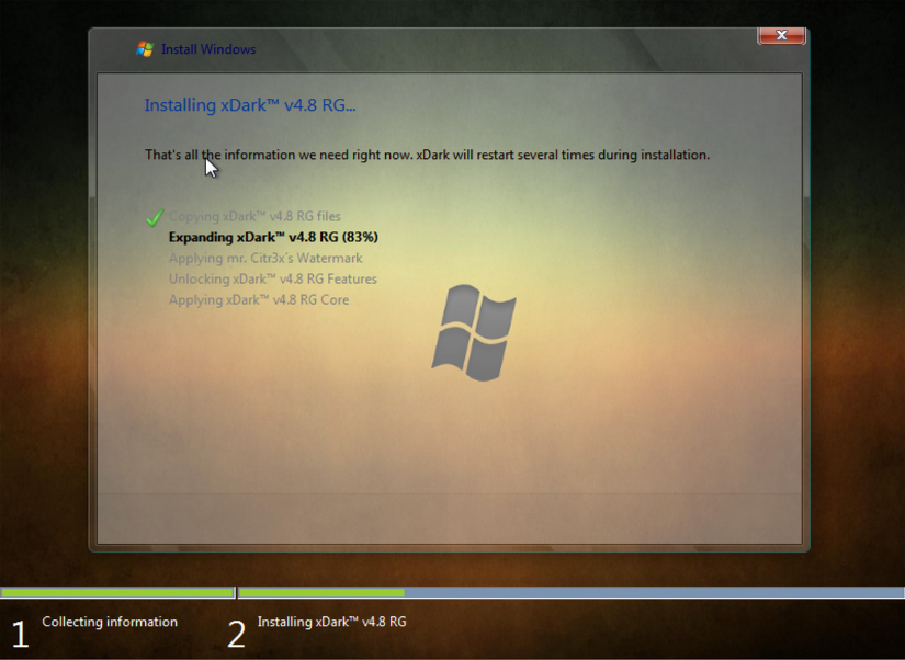 Windows 7 xDark™ Deluxe v4 8 x64 RG