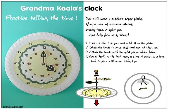 종이접시 시계 만들기