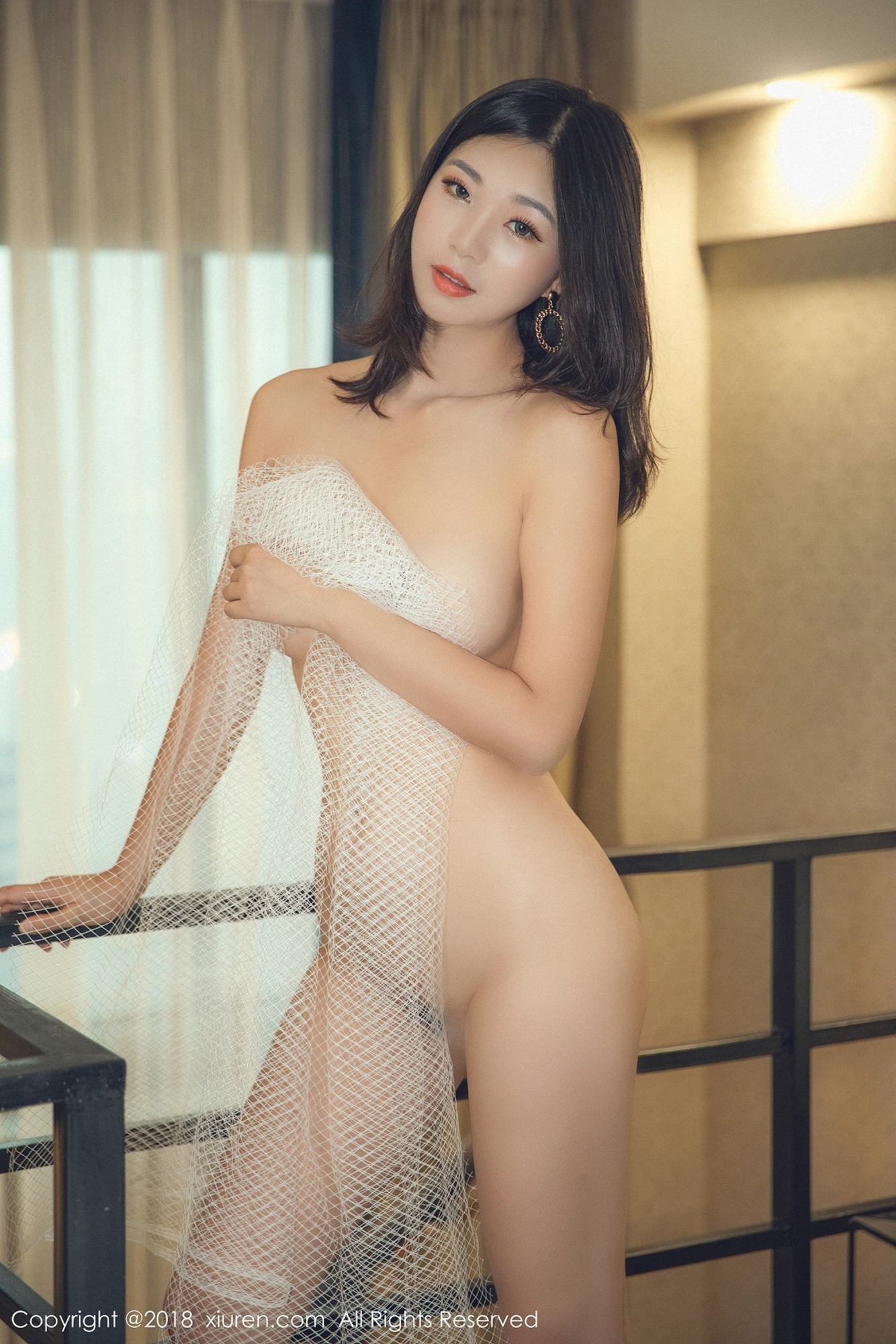 hot Chinese glamour in see through lingerie
